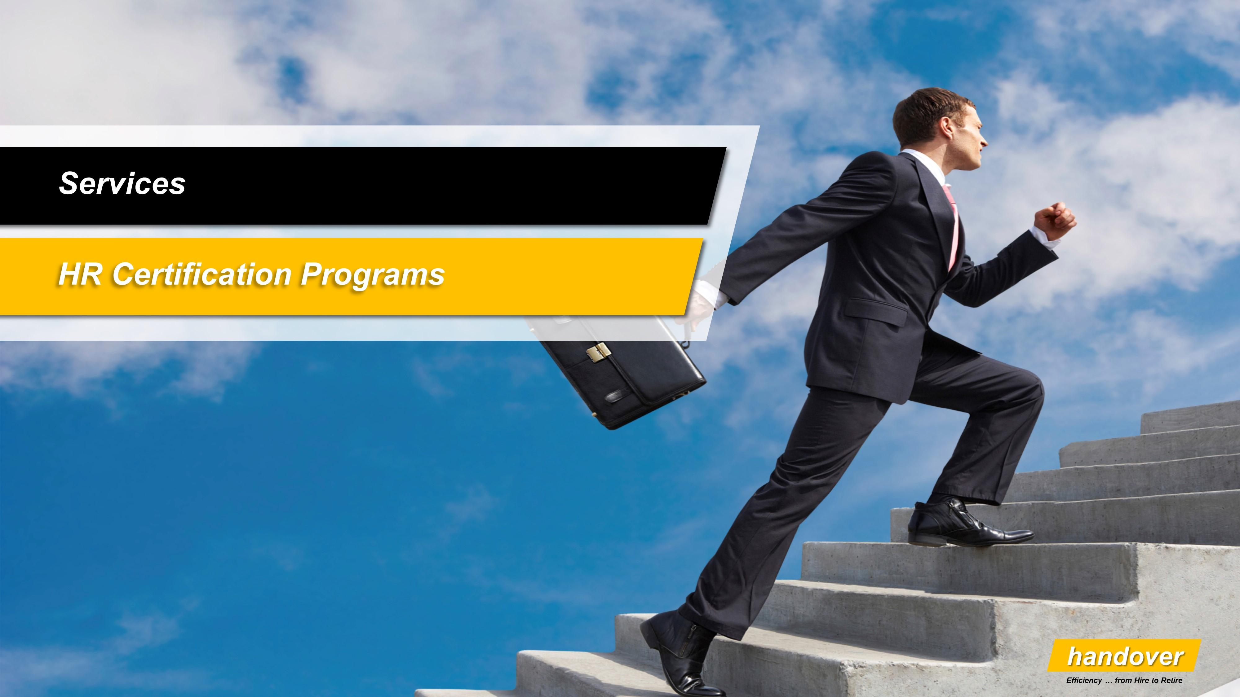 Hr Certification Programs Handover Consulting