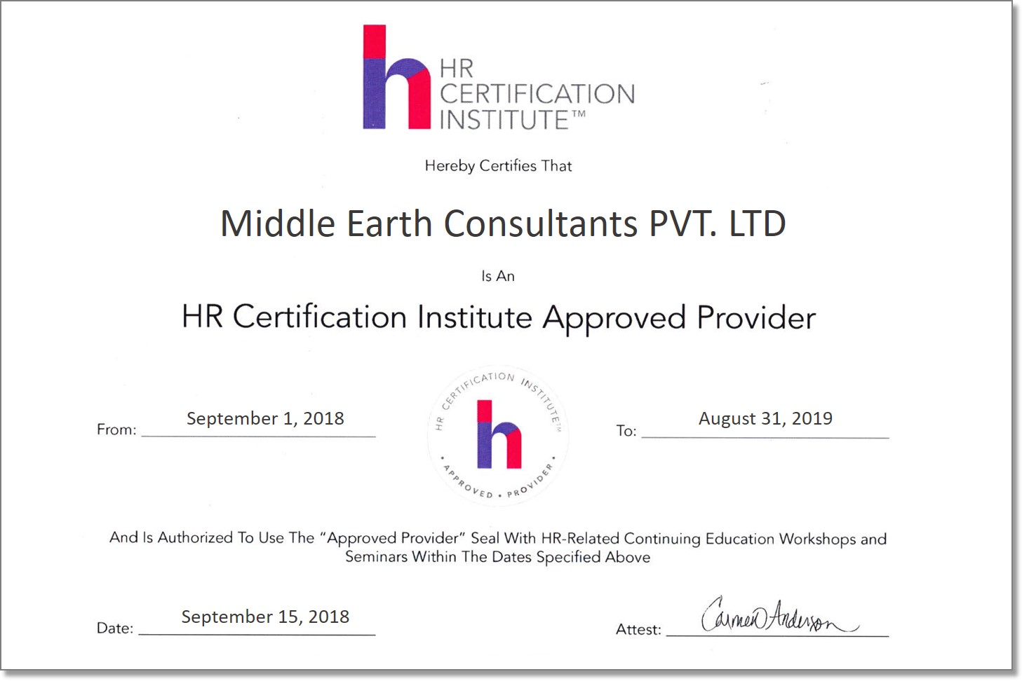 Hr Certification Programs Handover Consulting